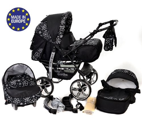 baby sportive kamil kombikinderwagen set incl kinderwagen mit zubehr babyschale und sportwagen. Black Bedroom Furniture Sets. Home Design Ideas