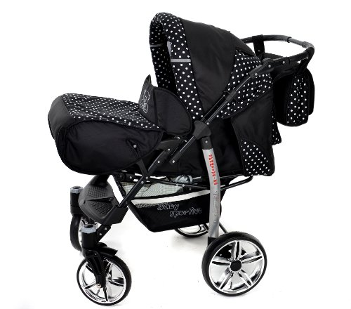 baby sportive x2 3 in 1 kombikinderwagen set incl kinderwagen mit zubehr babyschale und. Black Bedroom Furniture Sets. Home Design Ideas
