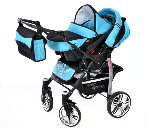 baby sportive x2 3 in 1 kombikinderwagen set incl. Black Bedroom Furniture Sets. Home Design Ideas