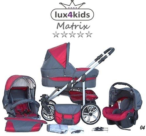 chilly kids matrix ii kinderwagen komplettset autositz. Black Bedroom Furniture Sets. Home Design Ideas
