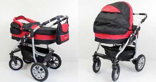clamaro 2 in 1 coral kombi kinderwagen mit einem aluminium. Black Bedroom Furniture Sets. Home Design Ideas