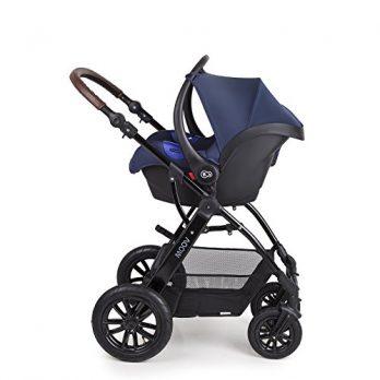 blauer Kinderwagen von Kinderkraft
