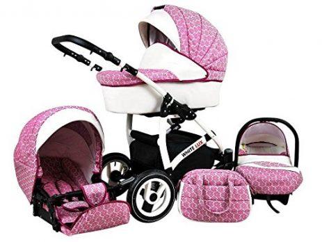 Kinderwagen rosa whitelux
