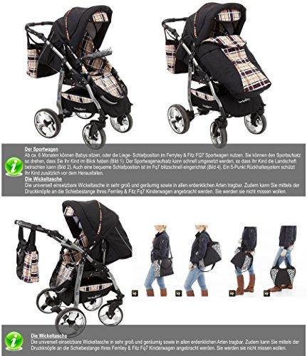ferriley fitz daytona kinderwagen safety set autositz isofix basis regenschutz moskitonetz. Black Bedroom Furniture Sets. Home Design Ideas