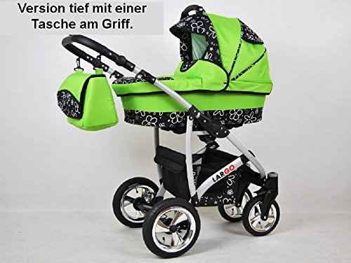 kinderwagen largo 3 in 1 set wanne buggy babyschale. Black Bedroom Furniture Sets. Home Design Ideas