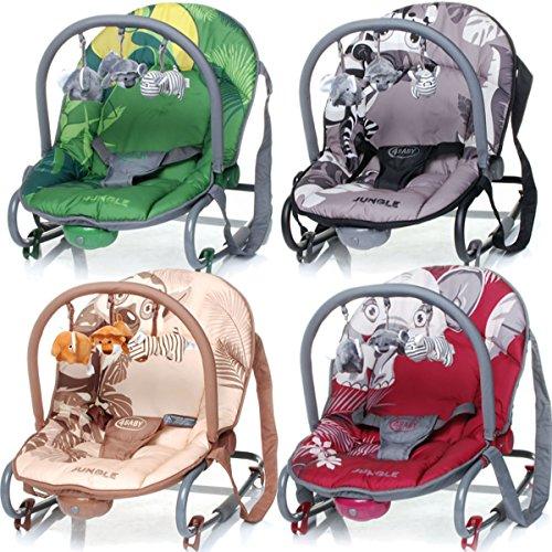 babywippe jungle baby schaukelwippe mit vibration spielbogen kinderwageneldorado. Black Bedroom Furniture Sets. Home Design Ideas