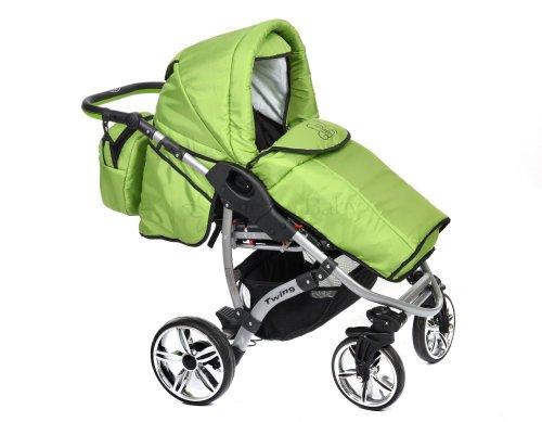 Kinderwagen in der Farbe grün