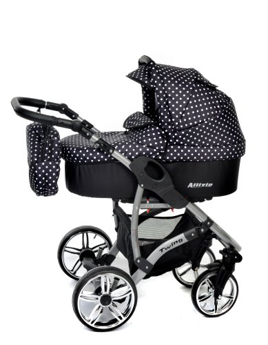 Kinderwagen mit schwenkbaren Rädern Kinderwagen schwarz