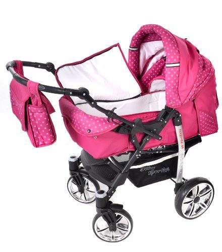 baby sportive x2 3 in 1 kombikinderwagen set incl kinderwagen mit zubehr babyschale und. Black Bedroom Furniture Sets. Home Design Ideas