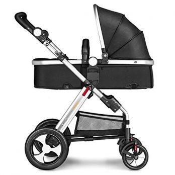 Kombikinderwagen schwarz Kinderwagen Kinderbuggy