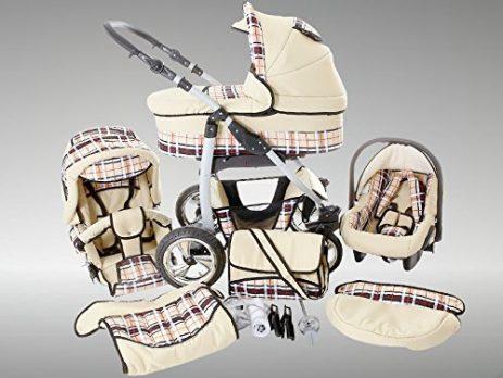 Kinderwagen beige Kids-Dino-Kinderwagen