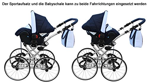 clamaro 3 in 1 amber linen kombi kinderwagen mit einem. Black Bedroom Furniture Sets. Home Design Ideas