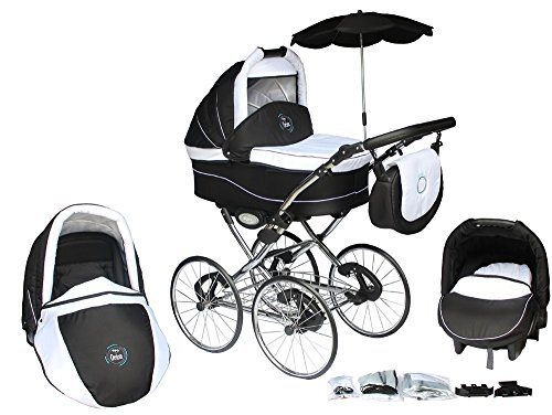 clamaro 3 in 1 orion retro kombi kinderwagen mit 17. Black Bedroom Furniture Sets. Home Design Ideas