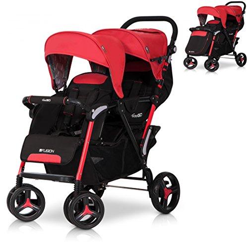 fusion zwillinge geschwisterkinderwagen baby buggy. Black Bedroom Furniture Sets. Home Design Ideas