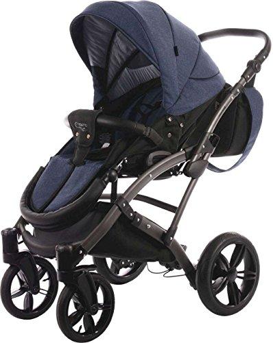 knorr baby kombi kinderwagen voletto carryo schwarz blau. Black Bedroom Furniture Sets. Home Design Ideas