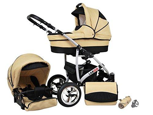 kinderwagen largo 2 in 1 kinderwagen buggy braun ecri kinderwageneldorado. Black Bedroom Furniture Sets. Home Design Ideas