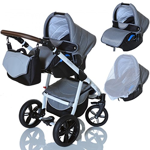 lcpkids lucato 3in1 kombi kinderwagen komplettset babywanne buggy autositz babyschale 0 13 kg. Black Bedroom Furniture Sets. Home Design Ideas