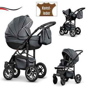 graue kinderwagen online kaufen 3 in 1 kombikinderwagen grau. Black Bedroom Furniture Sets. Home Design Ideas