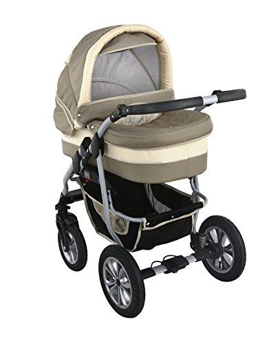 clamaro 39 coral 2018 39 kinderwagen 3 in 1 kombi system 24. Black Bedroom Furniture Sets. Home Design Ideas