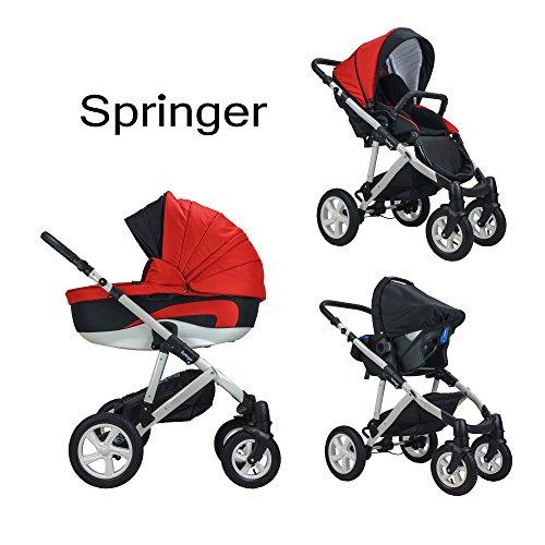 springer 3 in 1 kombi kinderwagen baby erstausstattung. Black Bedroom Furniture Sets. Home Design Ideas