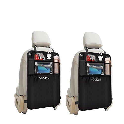 Auto Organizer Auto Rückenlehnenschutz mit klappbarem Tisch PU Leder Rücksitz