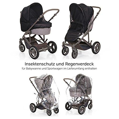 abc design kombi kinderwagen set 2in1 catania 4 air mit luftreifen babywanne und sportwagen. Black Bedroom Furniture Sets. Home Design Ideas