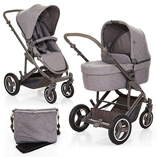 abc design kombi kinderwagen set 2in1 catania 4 air mit luftreifen babywanne und sportwagen. Black Bedroom Furniture Sets. Home Design Ideas