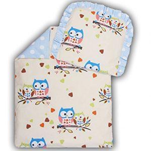 Kinderwagenset Baby Bettw/äsche Garnitur f/ür Kinderwagen Kissen Decke F/üllung Anker gro/ß blau//Steifenmuster 2 tlg.