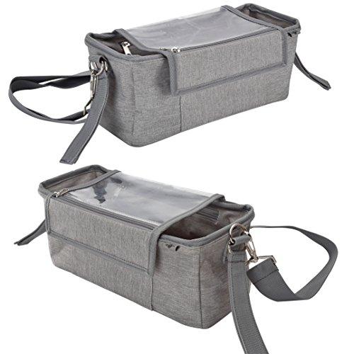 Grau Handy-Tasche /& Kinderwagen Clips BTR Kinderwagen Organizer