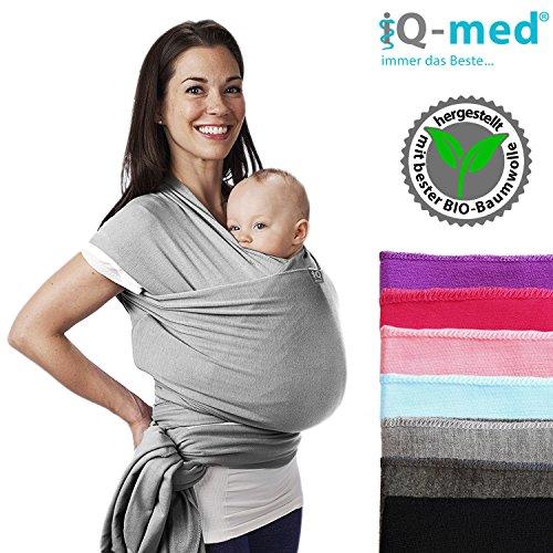 iq med babytragetuch f r neugeborene bis 15 kg bio atmungsaktiv anleitung. Black Bedroom Furniture Sets. Home Design Ideas