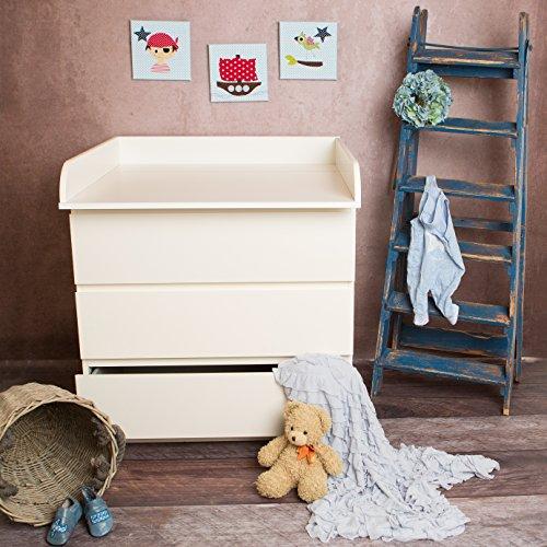 extra rundkante m wickelaufsatz wickeltischaufsatz f r ikea malm kommode kinderwageneldorado. Black Bedroom Furniture Sets. Home Design Ideas