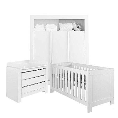 Felix Babyzimmer Wickelkommode Babybett Kleiderschrank Weiß oder ...