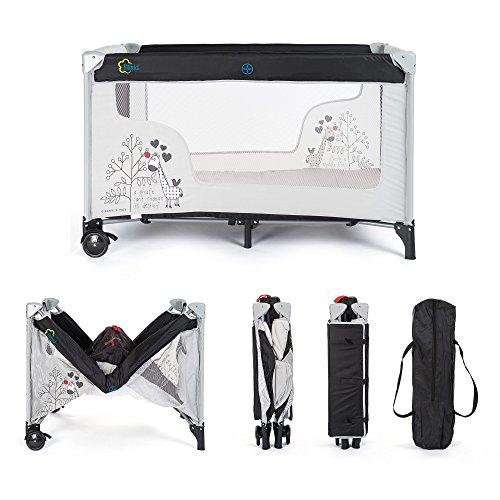 fillikid baby reisebett giraffe klappbar mit rollen matratze transporttasche und seitlichem. Black Bedroom Furniture Sets. Home Design Ideas
