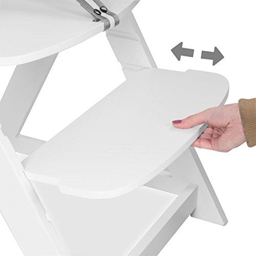 froggy treppenhochstuhl f r kinder holz kinderhochstuhl optional mit klappbarem tisch weiss. Black Bedroom Furniture Sets. Home Design Ideas