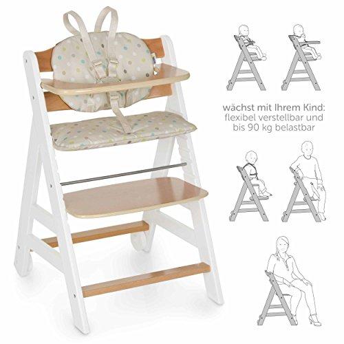 hauck beta plus newborn set baby holz hochstuhl ab geburt mit liegefunktion inkl aufsatz f r. Black Bedroom Furniture Sets. Home Design Ideas