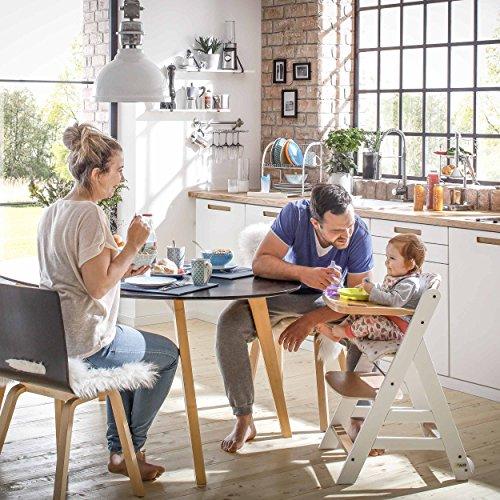 Hauck Beta Plus Newborn Set – Baby Holz Hochstuhl ab Geburt mit  Liegefunktion/inkl  Aufsatz für Neugeborene, Sitzpolster,  Tisch/mitwachsend,
