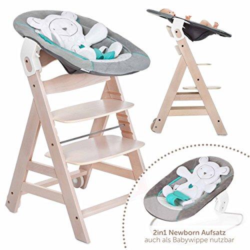 hauck beta plus newborn set baby holz hochstuhl ab geburt mit liegefunktion inkl aufsatz. Black Bedroom Furniture Sets. Home Design Ideas