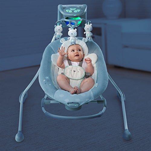 ingenuity babyschaukel und wippe mit lichtern twinkle. Black Bedroom Furniture Sets. Home Design Ideas