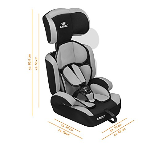 kidiz autokindersitz kinderautositz gruppe 1 2 3 9 36 kg. Black Bedroom Furniture Sets. Home Design Ideas