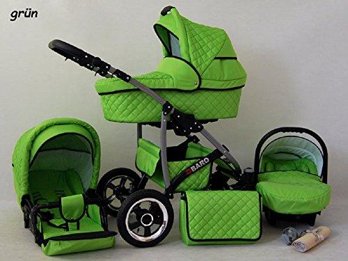 kinderwagen qbaro 3 in 1 set wanne buggy babyschale. Black Bedroom Furniture Sets. Home Design Ideas