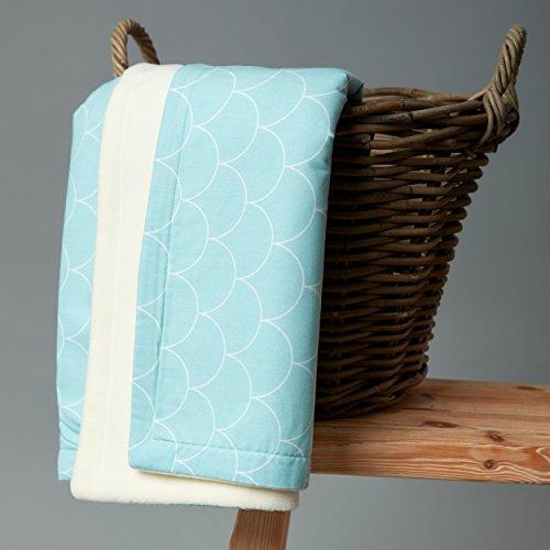 kraftkids babydecke wei e halbkreise auf pastelmint kinderwageneldorado. Black Bedroom Furniture Sets. Home Design Ideas