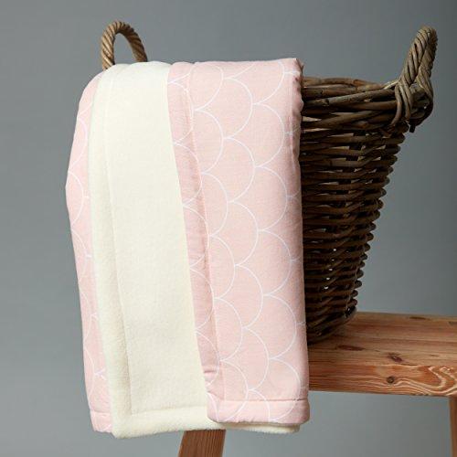 kraftkids babydecke in wei e halbkreise auf pastelrosa kuscheldecke 70 cm x 100 cm fleecedecke. Black Bedroom Furniture Sets. Home Design Ideas