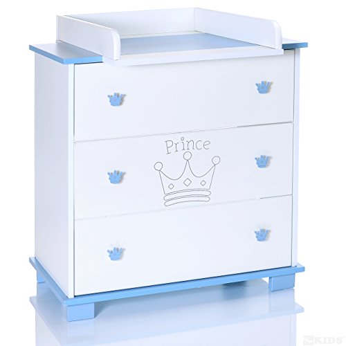 wickelkommode blau weiss wickelaufsatz abnehmbar 3. Black Bedroom Furniture Sets. Home Design Ideas