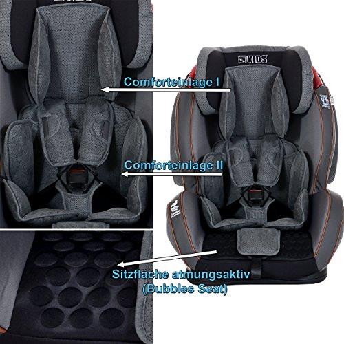 Grau LCP Kids Auto Kindersitz GT 9 36 kg mit Schlafposition