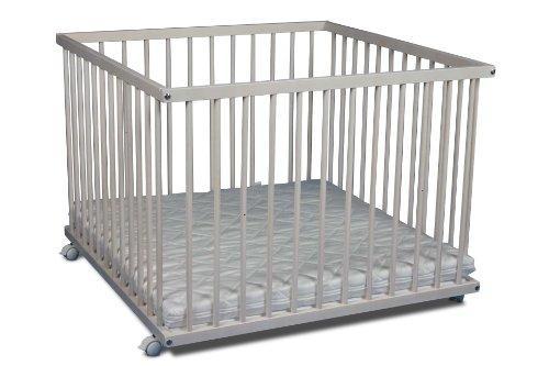 laufgitter wei lasiert 75x100 buche mit matratze. Black Bedroom Furniture Sets. Home Design Ideas
