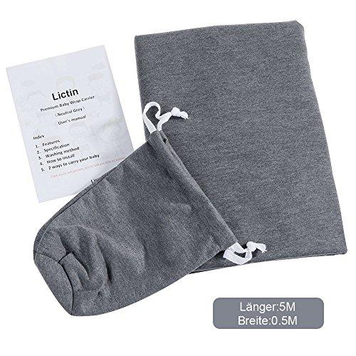lictin babytragetuch kindertragetuch babybauchtrage sling tragetuch f r baby neugeborene. Black Bedroom Furniture Sets. Home Design Ideas