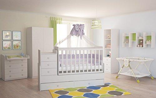 Polini Kids Baby Kinderzimmer Set Simple in weiß 4-teilig