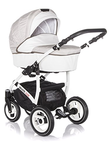 sale raff white lux system kinderwagen babywagen buggy autositz kinderwagen system 3 in1. Black Bedroom Furniture Sets. Home Design Ideas