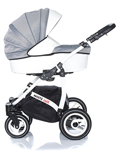 sale raff white lux system kinderwagen babywagen buggy kinderwagen system 2 in1 wickeltasche. Black Bedroom Furniture Sets. Home Design Ideas