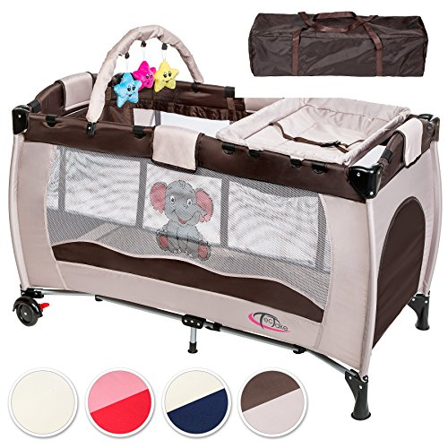 tectake kinder reisebett laufstall mit babyeinlage diverse farben kinderwageneldorado. Black Bedroom Furniture Sets. Home Design Ideas
